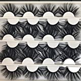 25MM Dramatic Mink Eyelashes 3D Long Handmade Luxurious Soft Volume 12 Pairs Thick Crossed Lashes Pack