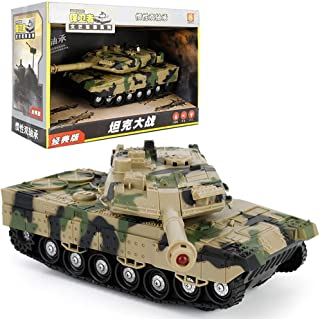 IBalody Kids Toys Mini Pull Back Main Battle Tank USB Remote Panzer Tank German Tiger Sound Rotating Turret Recoil Action When Cannon Artillery Shoots Parent-Child Game Gifts (Color : D)