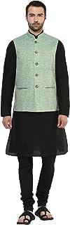 KISAH Dupion Silk Solid Coloured Waistcoat for for Men's