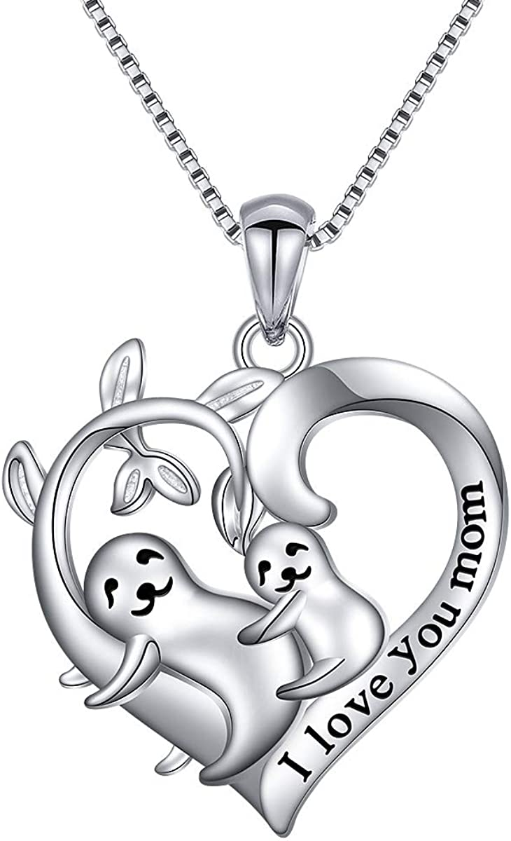 Sloth Indefinitely Sales for sale Gift 925 Sterling Silver Down Neck Pendant Cute Slow