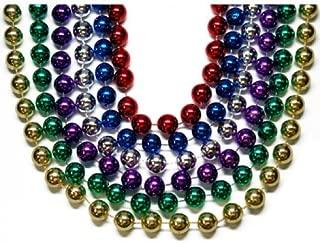 Toomey's Mardi Gras 16MM Round Throw Beads 8 Dozen Pack in 48-Inch Length Assorted Colors – M-48-16 ROUND ASST 8dz