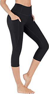 FULLSOFT Yoga Pants for Women with Pockets Yoga Capris Leggings for Women Workout Bike High Waisted Leggings