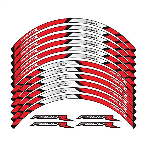 12 PCS Pegatinas de Ruedas Motocicletas Stripe Moto Reflective Protection Decorative Protection Rim Tire Pegatina Pegatina para BMW F900R F900 Pegatinas para Moto (Color : 1)