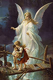 5D Diamond Painting by Number-Full Round Religious Kit-DIY Mosaic Cross Stitch Pattern Handmade Embroidery Painting Handmade Wall Décor-Guardian Angel 16
