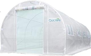 Quictent Upgraded 20'x10'x7' Portable Greenhouse 2 Zipper Mesh Doors 7 Crossbars Large Walk-in Heavy Duty Green Gardening ...