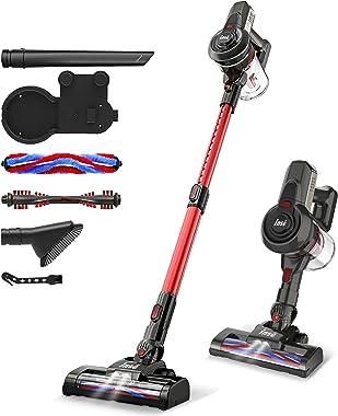 INSE Cordless Vacuum, 12KPa Powerful Vacuum Cleaner with 160W Motor, 4-in-1 Stick Vacuum, Rechargeable Handheld Vacuum Cleane