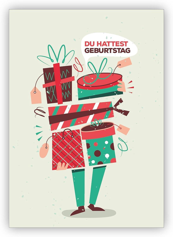Business Weihnachtskarten Set (16Stk) nette Geburtstagskarte wenn man's man's man's mal wieder vergessen hat  Du hattest Geburtstag, Weihnachts und Neujahrsgrüße für Firmen, Familie & Freunde B01LX8PL69 | Kostengünstig  15b65b