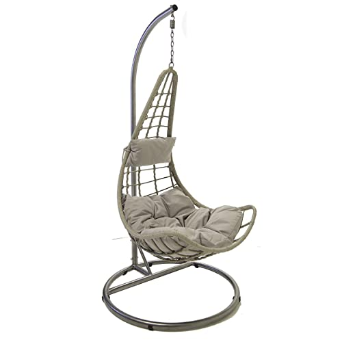 Rattan Hanging Swing Patio Garden Chair VERMONT