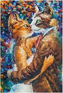 Jigsaw Puzzle Cats Collection Puzzles - Mr. Cat and Miss Cat - 520/1000/1500 Piece Jigsaw Puzzle- Unique Cut Interlocking ...
