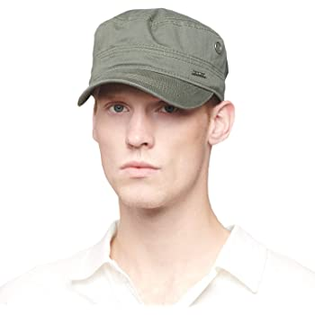 Military Cap Flat Top Army Hat Adjustable Vintage Classic Style Sunhat KS