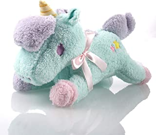 Cute Funny Unicorn Stuffed Animal - Soft Plush Toys for All Ages – Great for Nursery, Room Decor, Bed – Blue - Measures 13 inch.Gift for Kids Babies Birthday Party …