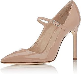 Soireelady Escarpins Femme,Peep Toe Chaussures,Talon Haut Escarpins