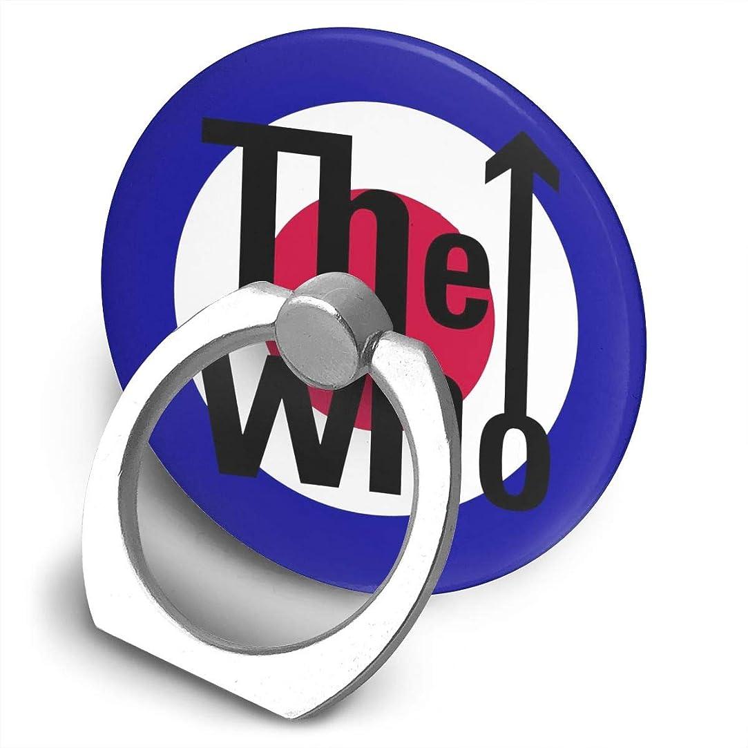 古代補充少数ザ?フー The Who ロゴ スマホ リング ホールドリング 指輪リング 薄型 おしゃれ スタンド機能 落下防止 360度回転 タブレット/スマホ IPhone/Android各種他対応