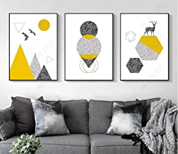 Three painting poster Nordic feather arrow cartoon wall art canvas nursery print abstract painting picture girl boy room decoration without frame-35x50cmx3pcsWithout frame