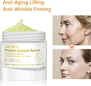 Peptide Complex Serum,Collagen Peptides For Skin and Neck Moisturizer Cream Anti-Aging Day Cream and Night Cream to Smooth Wrinkles, Non-greasy absorb quickly Anti-aging cream