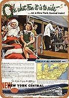 1948ニューヨークセントラルクリスマス電車ヴィンテージ見金属記号