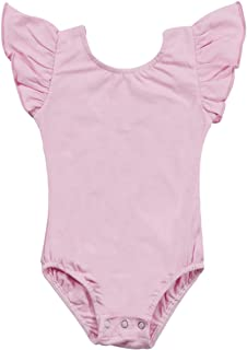 SUPEYA Toddler Baby Girls One-Piece Leotard Ruffle Sleeve Rompers Jumpsuit Outfits