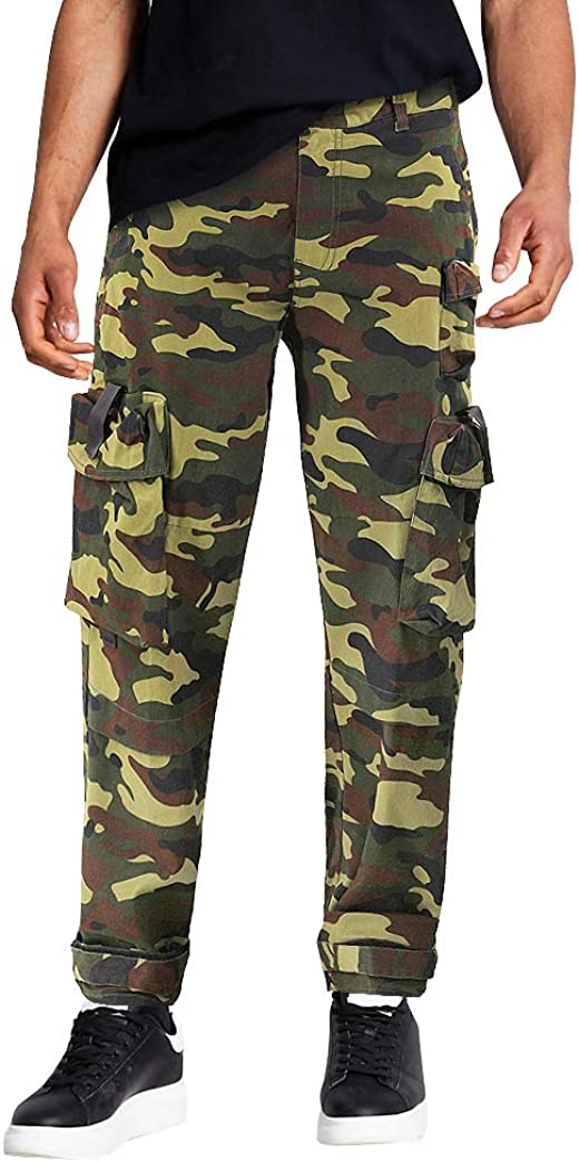 Men's Army Utility Our shop most popular Pants Strapping Push Taper Slim Buckle Max 63% OFF Ca Fit