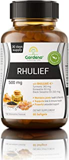 Fast Natural & Non-Addictive Pain Relief Supplement RHULEAVE-K® by Gardeno® | 3 in 1 power-packed HIGH ABSORBTION FORMULA...