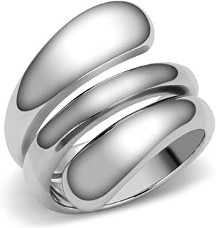Designer Style 316 Stainless Steel Plain Women's Fashion Ring