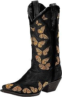 Stivali Scarpe Donna Moda Casual Tacchi Quadrati Tacchi Lunghi alla Caviglia