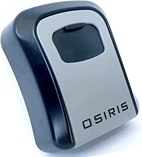 OSIRIS AU Wall Mount Key LockBox - Strong, 4-Digit Combination, Metal, Outdoors Key Safe - Perfect for Realtors, Airbnb, C...