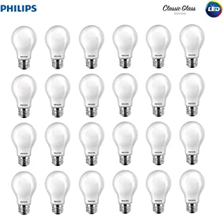 Philips LED 545921 Non-Dimmable A19 Light Bulb: 800-Lumen, 2700-Kelvin, 10 (60 Watt Equivalent), E26 Base, Soft White, 24-Pack, 24 Piece