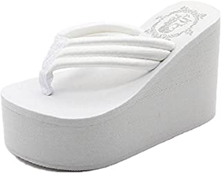 Womens Wedges Flip Flops Summer Thong Beach Sandals Chunky High Platform