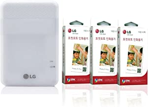 LG Pocket Photo Printer PD261 Wireless Android iOS Portable Instant Pocket Mobile (Photo Paper, White)