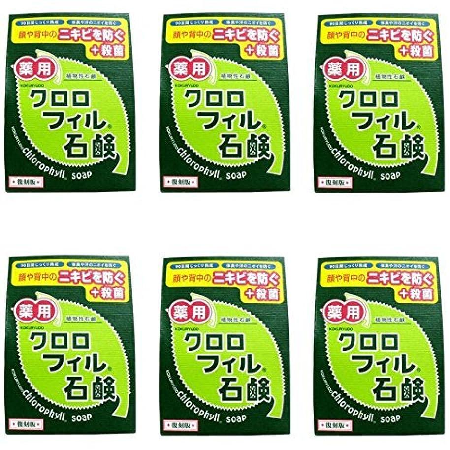 作り上げるラインナップバッグ【まとめ買い】クロロフィル石鹸 復刻版 85g (医薬部外品)【×6個】