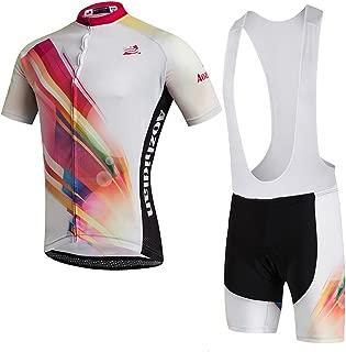 Uriah Women's Cycling Jersey White Bib Shorts Sets Short Sleeve 3D Gel Padded