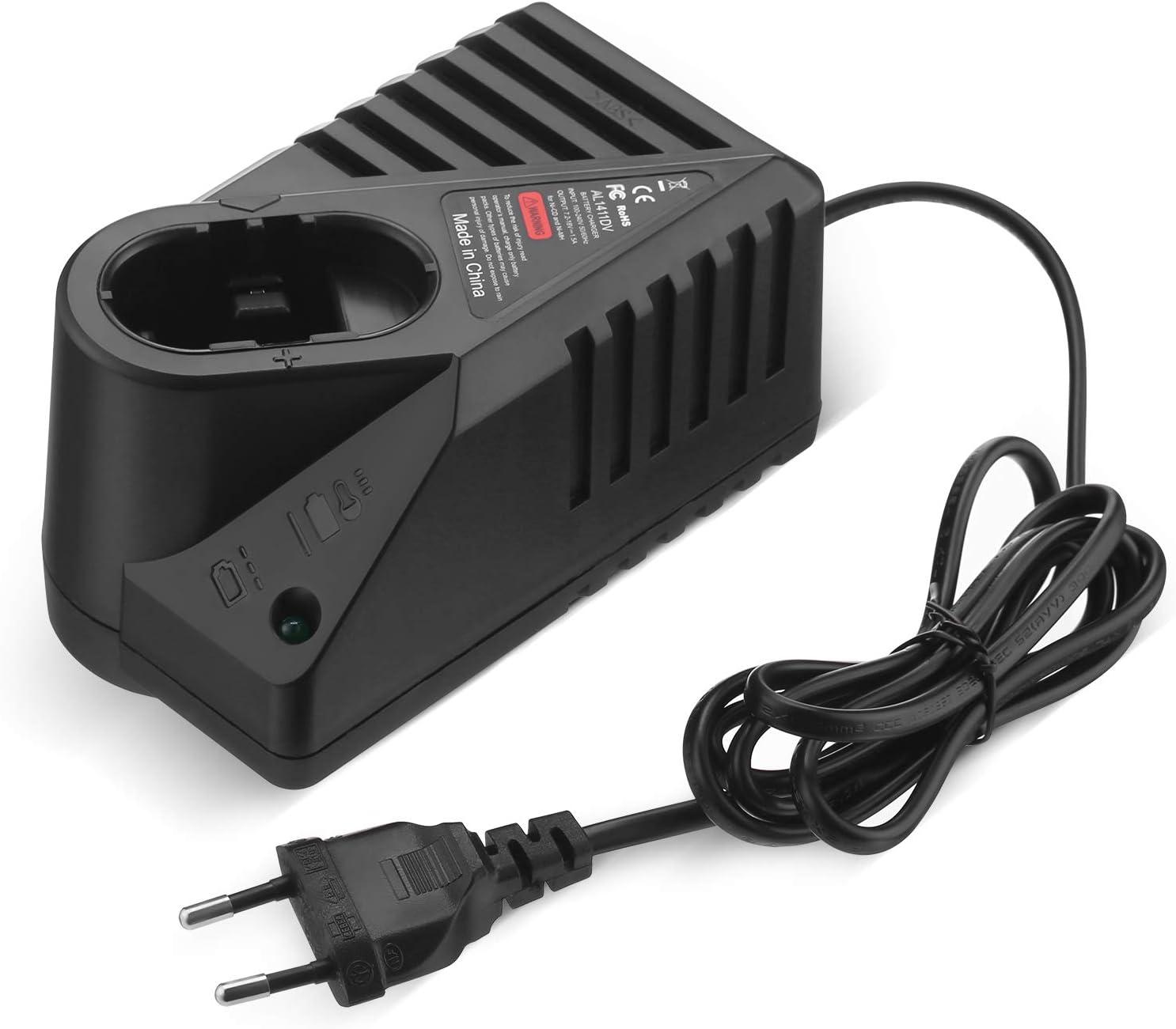 FirstPower Cargador de Repuesto para AL1411DV, Compatible con Bosch Cargador 7.2V-18V, Carga Bosch 7.2V 9.6V 12V 14.4V Ni-CD Ni-MH batería de Herramienta eléctrica GSR7.2 GSR9.6 GSR12 GSR14.4
