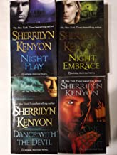 Collection of 4 Dark Hunter Series Novels by Sherrilyn Kenyon: Night Embrace (2003), Dance with the Devil (2003), Night Play (2004), and One Silent Night (2008)