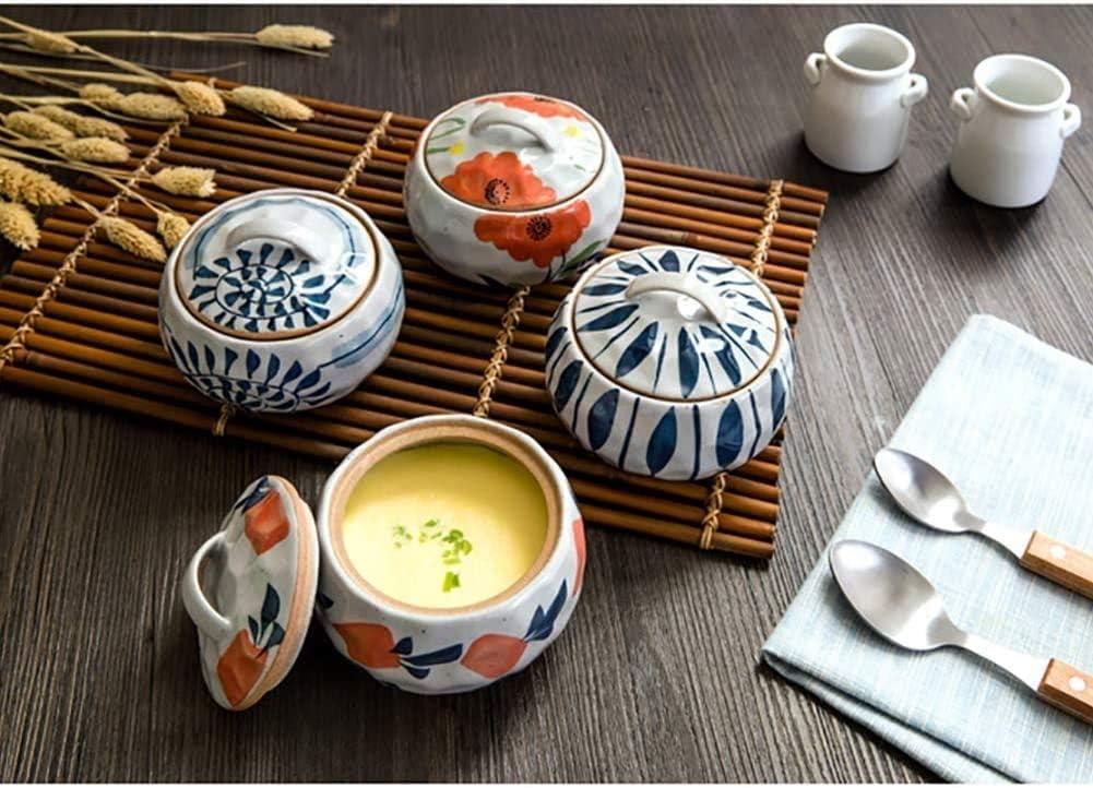 TYUIO Mini Cocotte marmite à Soupe Ustensiles de Cuisson Pot à Haute température Ragoût Céramique Casserole Oeuf Lait Poêle Cuisine Pots C 9.5x11.5cm (4x5inch) (Color : A) B