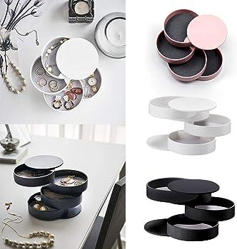 4-Layer Rotatable Jewelry Storage Box Accessory Storage Tray
