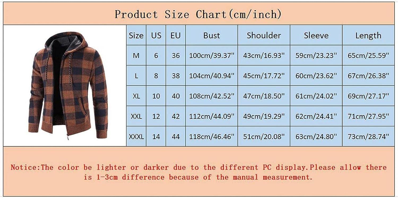 PHSHY Men's Fleece Hoodies Sweaters Open Front Zip Up Cardigan Jacket Coat Drawstring Long Sleeves Outwear Plus Size