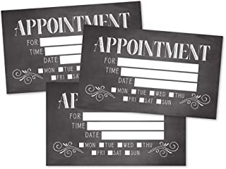 50 Rustic Chalkboard Appointment Reminder Cards, Next Apt. With Medical Doctor, Dental, Salon, Therapy, Dog Grooming, Cleaning Business, Custom Personalized Blank Recall Service Reminder Notes