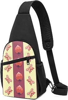 Mochila con patrón femenino, ligera, para el hombro, mochila para el pecho, bolsa cruzada, para viajes, senderismo, para h...