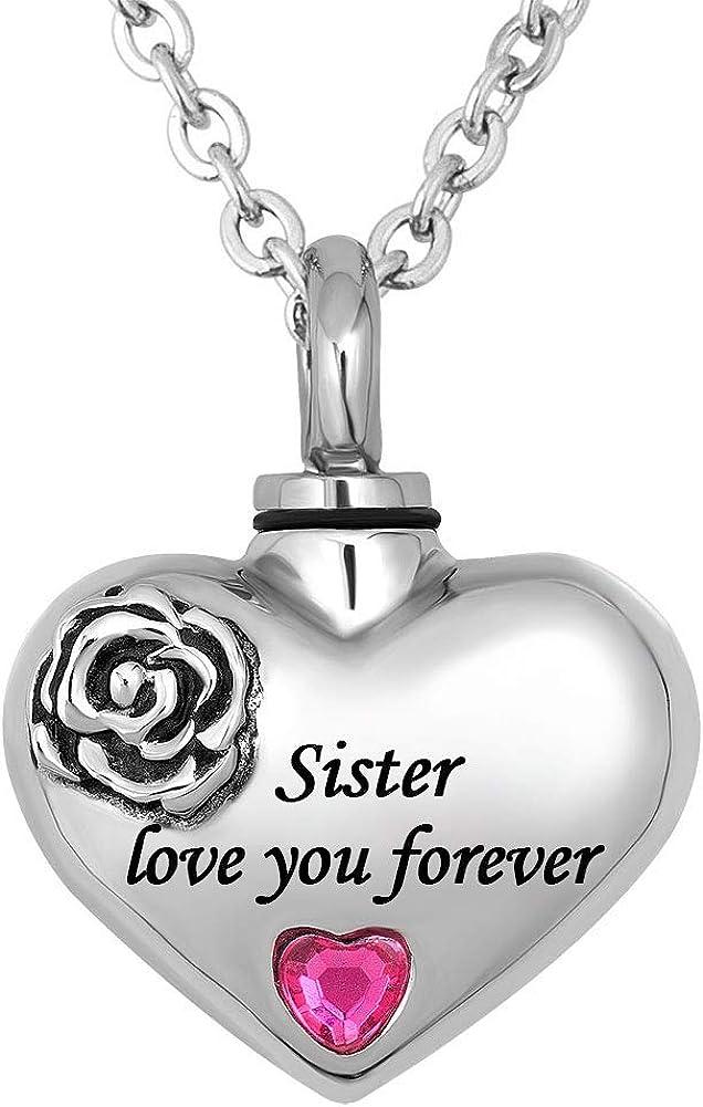 QLocket Mom Dad Grandma Love Popular standard You 2021 model Urn Forever Necklaces Ashe for