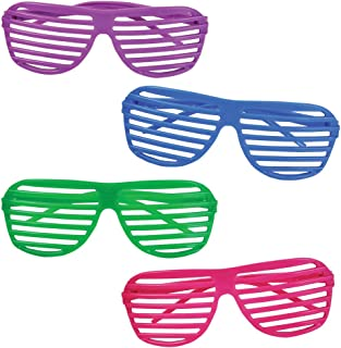 Kangaroo 80's Neon Shutter Shades, Kids Sunglasses (12-Pack)