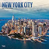 New York City 2021 12 x 12 Inch Monthly Square Wall Calendar with Foil Stamped Cover, USA United States of America New York State Northeast City