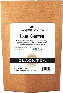 The Republic of Tea Earl Greyer Black Tea, 50 Tea Bags, Gourmet Black Tea And Orange Tea, Gluten-Free