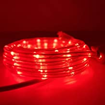 KXY UL Certified 16 Feet 80 LED Connectable Rope Tube Light Indoor Outdoor Party Holiday Light Red