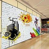 Tapete Foto Poster Riesen Wandbild Backsteinmauer Stadt Graffiti Fußball Basketball Große...