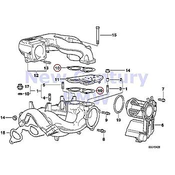 Amazon.com: BMW Genuine Intake Manifold System Gasket Asbestos Free 318i  318is 318i 318is 318ti Z3 1.9: AutomotiveAmazon.com