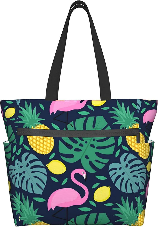 Tote Travel Bag Choice For Women Lesve Mesa Mall Flamingos Pineapple Tropical And