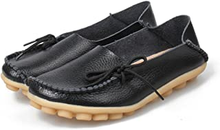 8faf6a4238273f Fashion Brand Best Show Women s Leather Loafers Flats Casual Round Toe  Moccasins Wild Breathable Driving Shoes