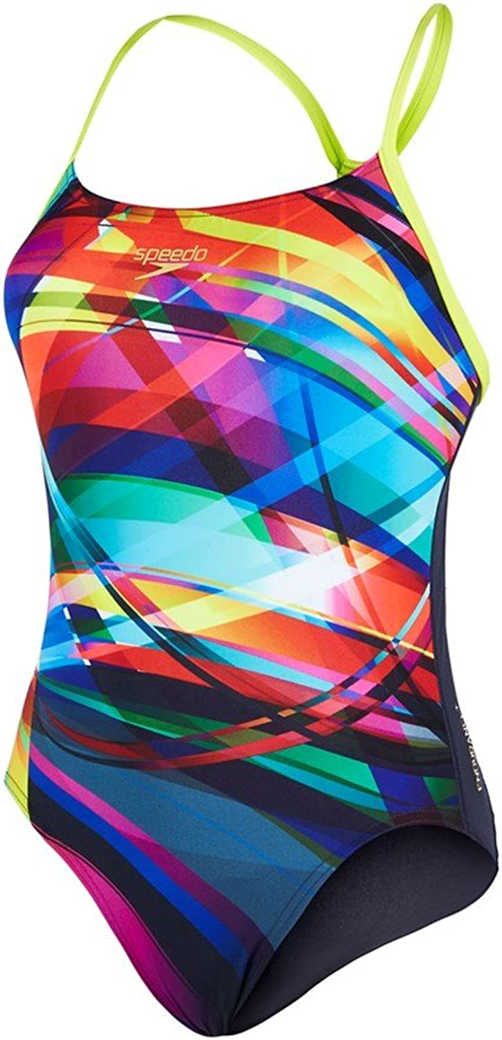 Speedo Damen Damen Damen Badeanzug Tempoflo Placement Digital Rippleback B01GCLYGYG  Im Freien e55a40