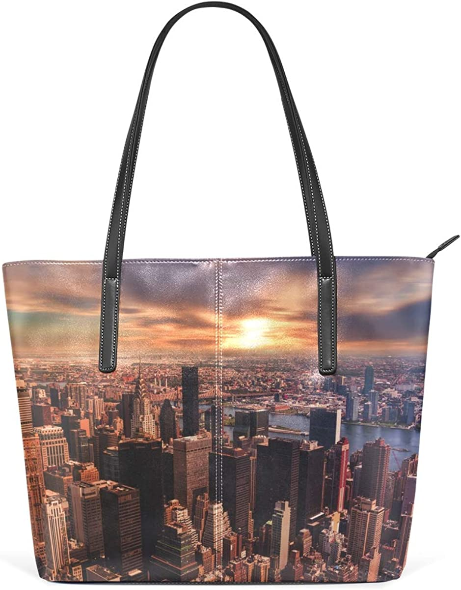 Architecture Finally resale discount start Buildings City Leisure Fashion Handbag Leather PU f
