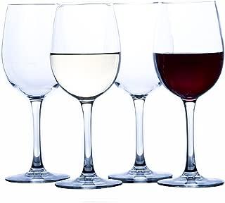 Elegant Plastic Wine Glasses by Savona | Unbreakable Wine Glasses | Ideal for Indoor/Outdoor Use | 100% Tritan Shatterproof Wine Glasses | Set of 4)